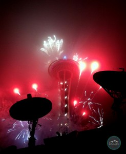 New Years Eve 2013-2014 in Seattle at the Space Needle Fireworks