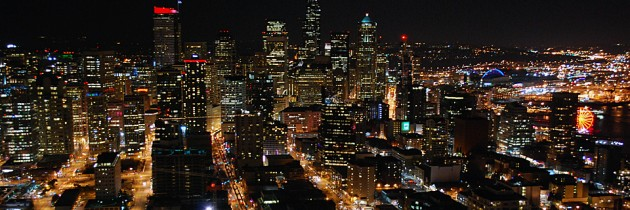 The View From the Space Needle at Night
