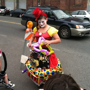 Georgetown Carnival in Seattle clown