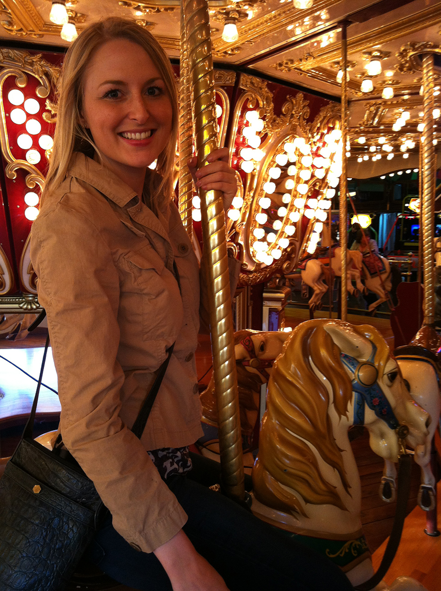Tove on the Seattle Waterfront Carousel
