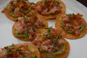 Local Albacore Tostadas at Poquitos.