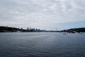 A view of Seattle on Lake Union from the Seattle Ice Cream Tour.