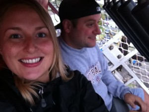Tim and Tove on the Zipper ride at Washington State Fair