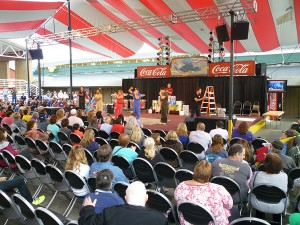 One of the smaller entertainment stages at the Washington State Fair
