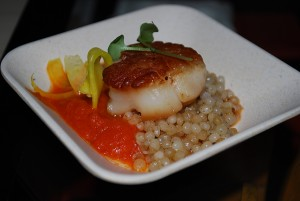 Seared scallops at Collections Cafe at Chihuly Garden and Glass