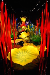 The Mille Fiore room at Chihuly Garden and Glass