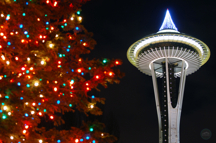 seattle center winterfest space needle - Christmas Activities In Seattle