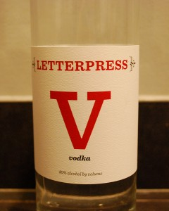 Letterpress Vodka Local Craft Tours