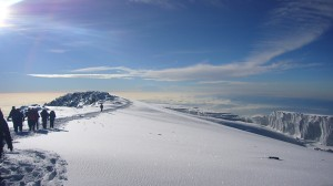 The summit of Mt. Kilimanjaro tanzania