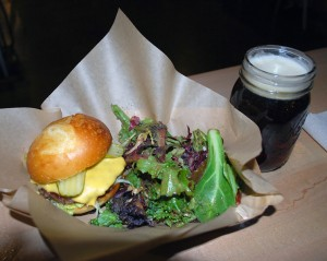 Burger from the Skillet Counter  at Seattle Center during the Best Damn Happy Hour in Seattle