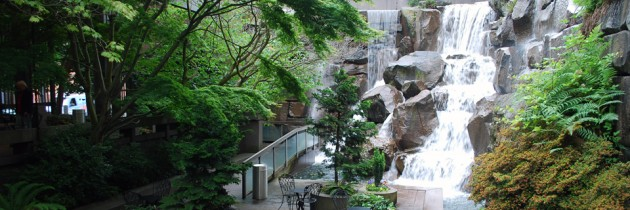 Waterfall Garden Park in Pioneer Square