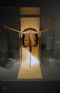 The Native American mask that inspired the Seahawks logo.