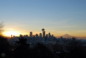 New Year's Day sunrise Seattle