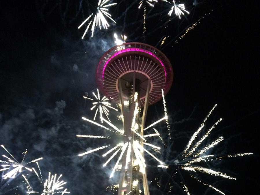 New Year's Fireworks in Seattle