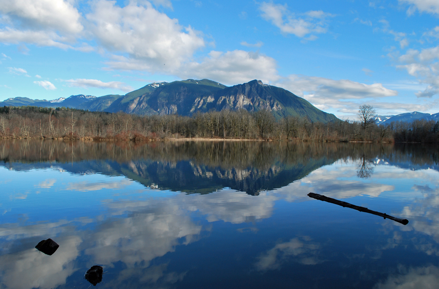 Borst Lake Mount Si Reflection
