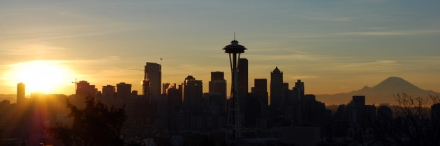 New Year's Day Sunrise in Seattle